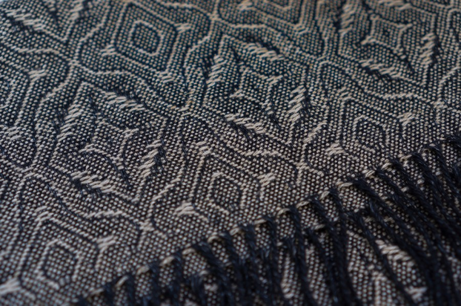 Black Linen Shawl