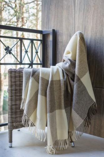 Virgin Wool Blanket - Throw (Dark)