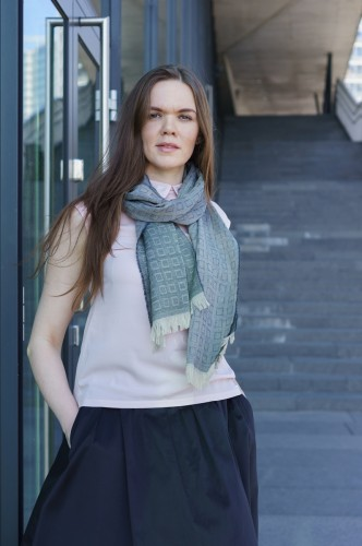 Green Merino Wool Shawl (Female)