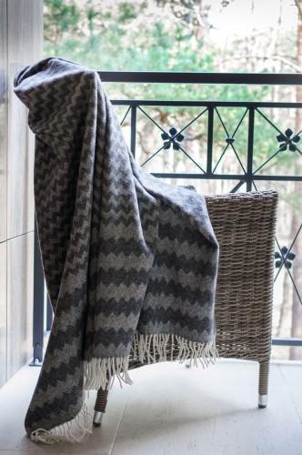 Dark Gray Wool Blanket - Throw