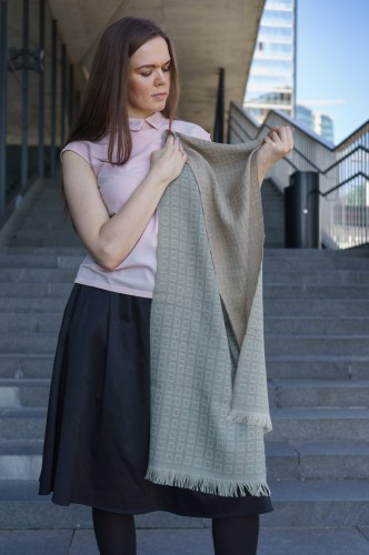 Green and Sand Color Shawl (Female)